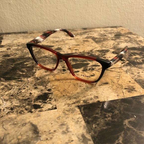 2ff9cc9ffe64 PRADA 04tv Vyo1o1 Black Bordeaux Eyeglasses. M 5b7272ff5bbb80d21bee3262.  Other Accessories ...